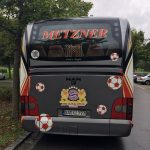 Vereinsbus Red United - Heckseite